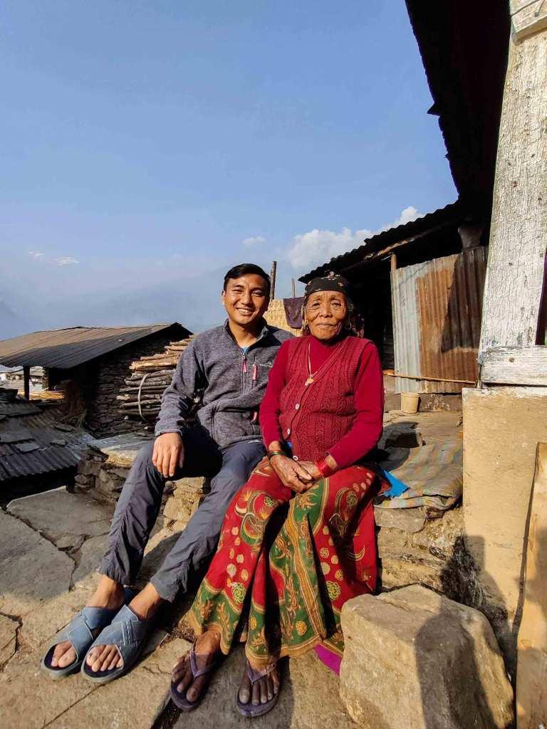 Bajai (Grandma) at Bhujung Village, Lamjung, Nepal