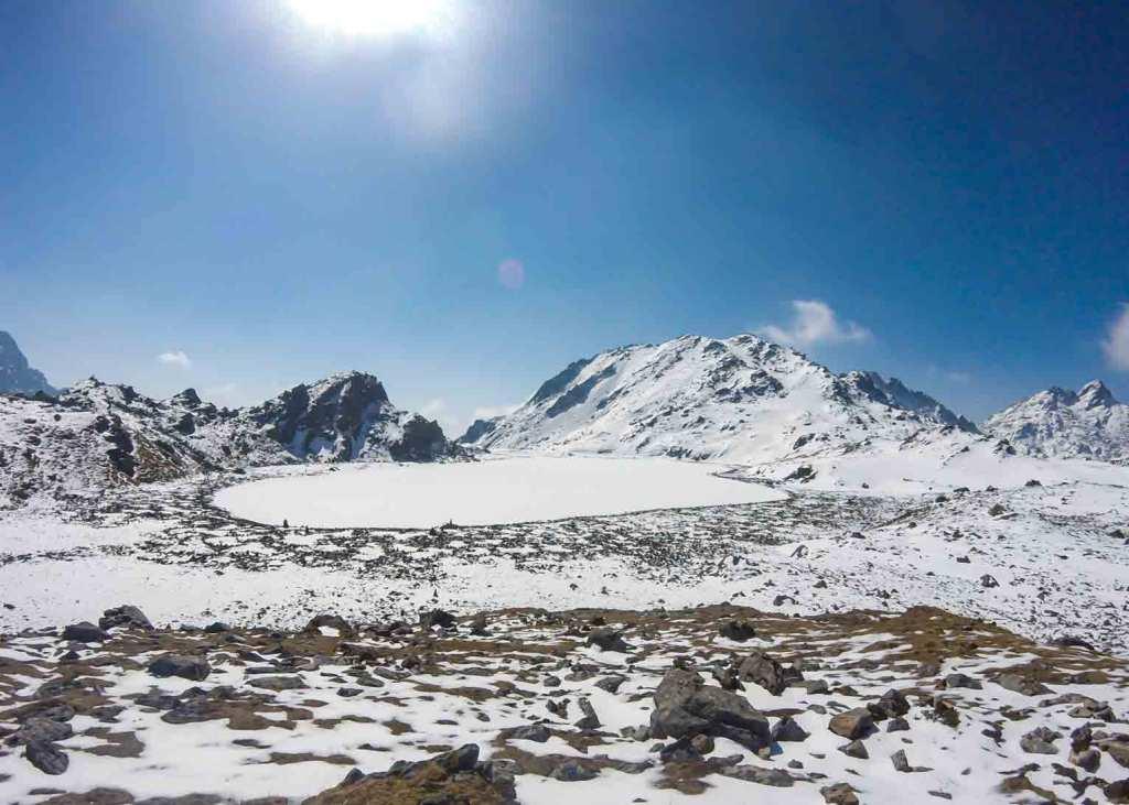 Frozen Suryakunda Lake