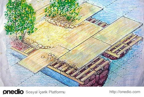 Sowa hayalini kurduğu adayı yapabilmek için önce bir tasarım gerçekleştirir.