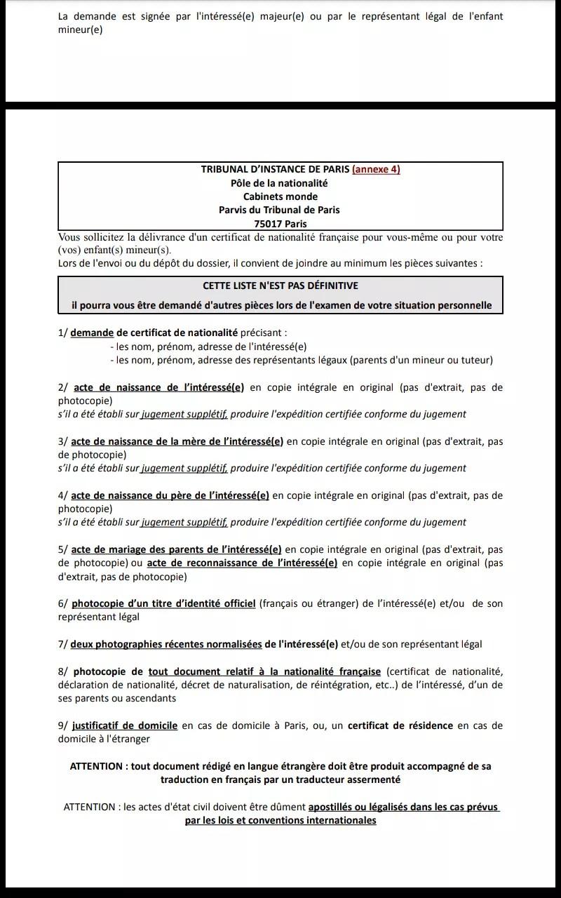 Lettre de demande de nationalité française | pratiquefr. Exemple De Mention De Divorce Sur Acte De Mariage
