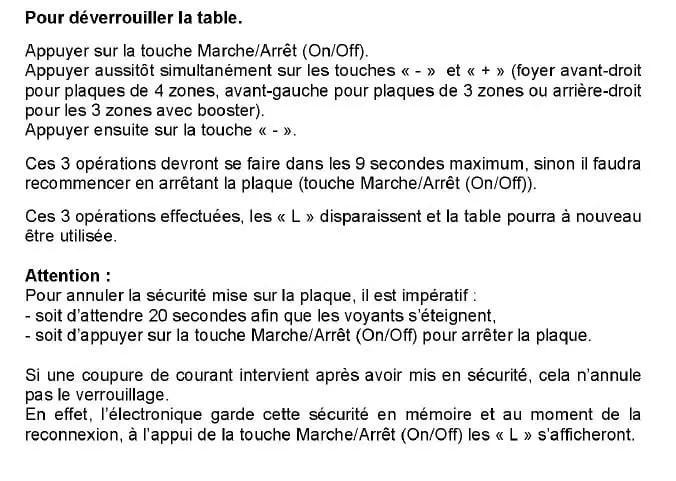 Panne Induction Plaque Lettre L Qui S Affiche Resolu Forum Electromenager Linternaute Com