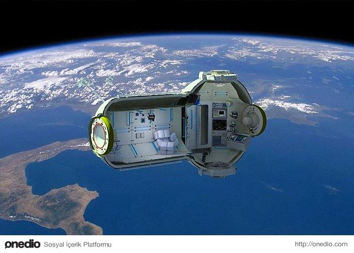 Bir Çin şirketi uzaya kurdukları otele düzenli uçuşlar başlatarak uzay turizminin önünü açacak.