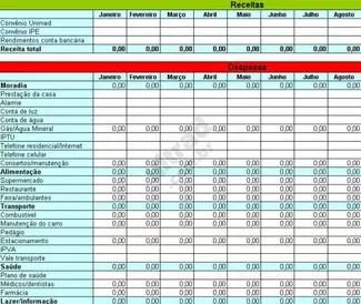 Como organizar o orçamento familiar em 7 etapas · 1. Planilha de orçamento pessoal