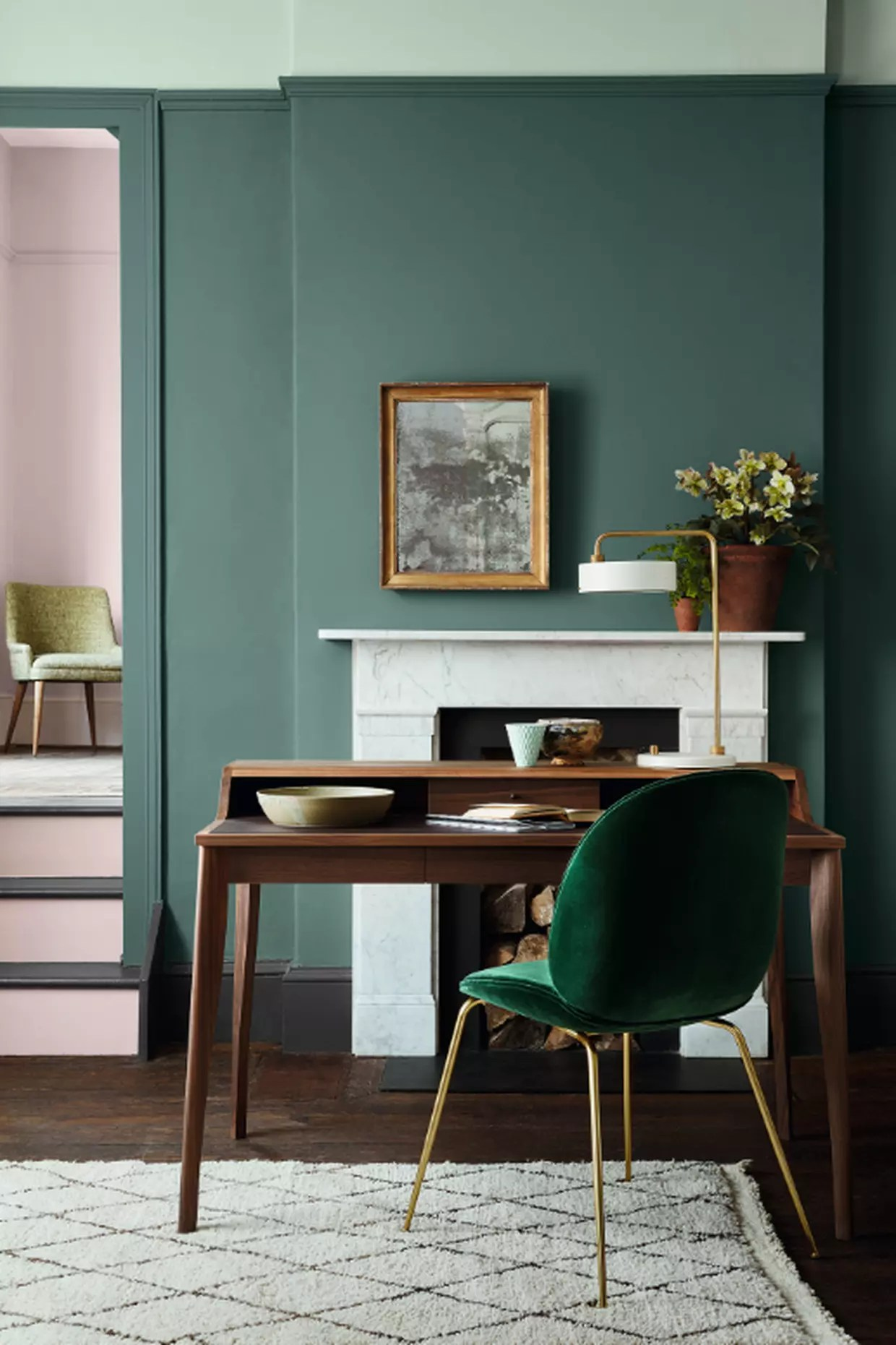 Peinture Pleat Aquamarine Et Dorchester De Little Greene