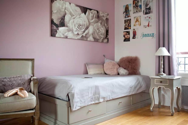 Une Chambre De Fille Entre Vieux Rose Et Gris Patin