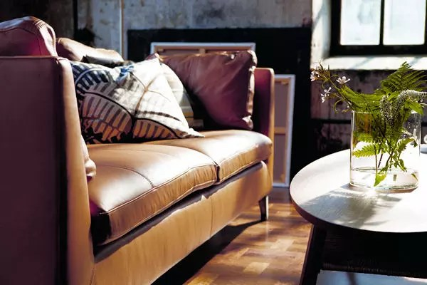 canape 3 places en cuir stockholm d ikea