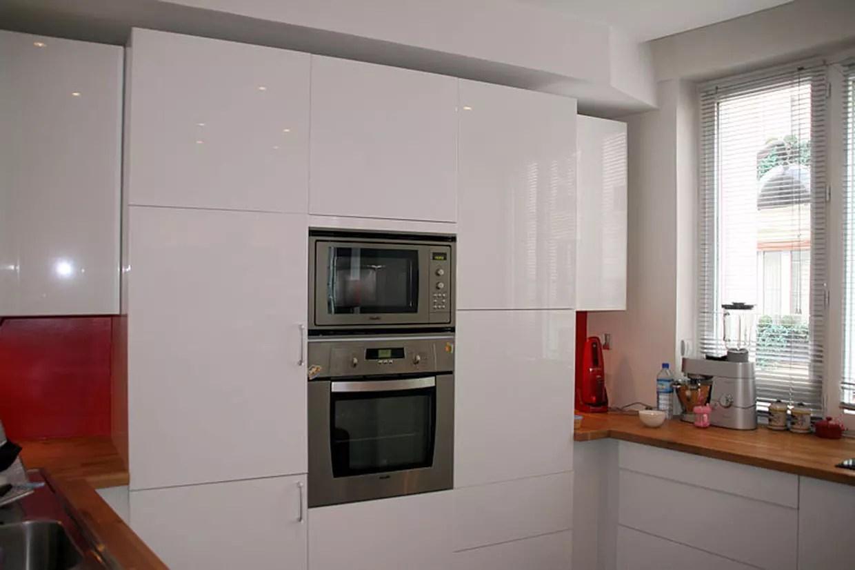 cuisine ikea blanc laque
