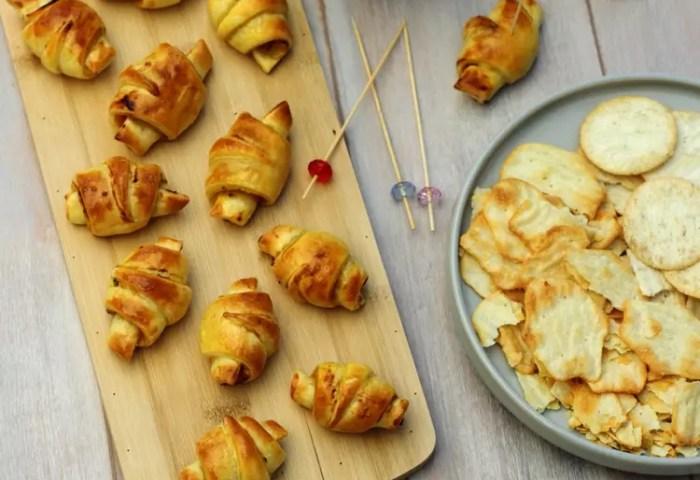 Recette De Mini Croissants Feuilletés Au Poulet Et Moutarde