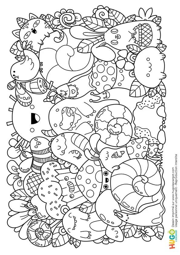 Coloriage Personnages Et Animaux Kawaii En Ligne Gratuit