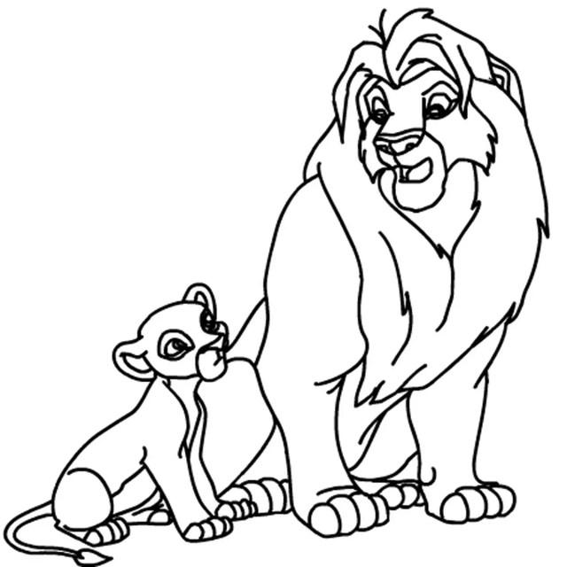 Coloriage Roi lion en Ligne Gratuit à imprimer