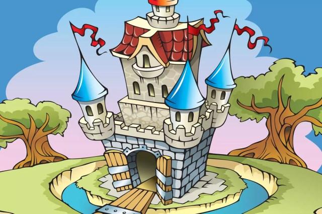 Coloriage Château sur Hugolescargot.com