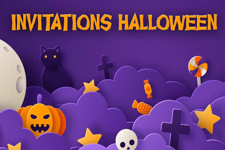 invitations fete d halloween