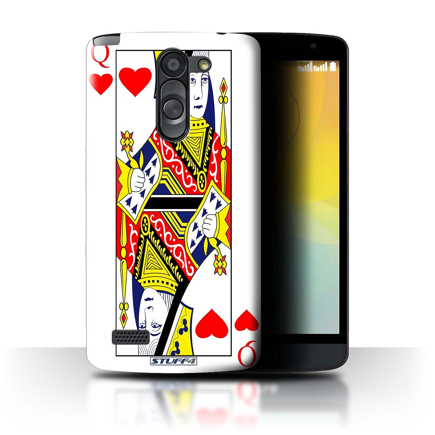STUFF4 CaseCover For LG L BelloD331Queen Of Hearts