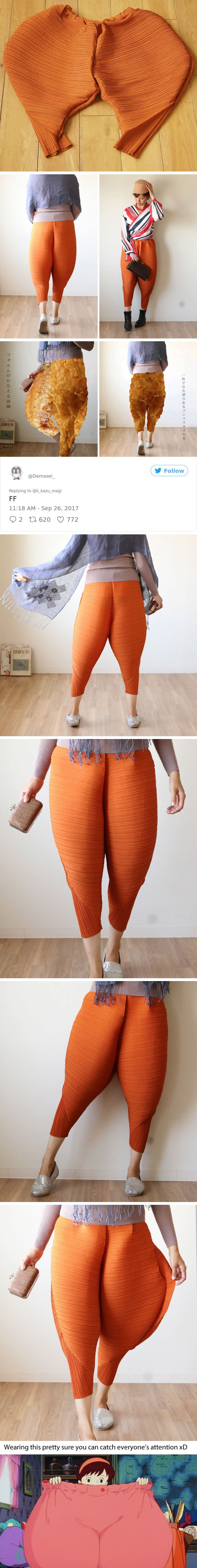 Fried Chicken Drumstick-Like Pants Will Definitely Make You A Fashionista