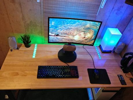 rgb lights built into desk pc gaming