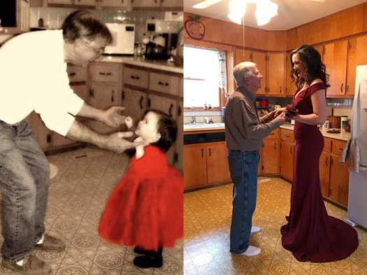 Time passes, the bond between a father and a daughter is forever.