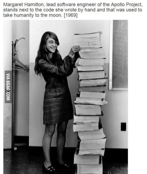 Margaret Hamilton Female Programmer Apollo Project