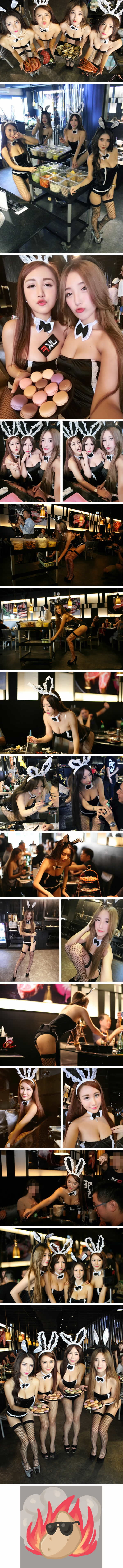 This Restaurant In Taiwan Has Girl Hosts Who Serve In Bunny Costumes