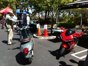 GoogleEarthDay1 - Lightning Sport Bike and scooter