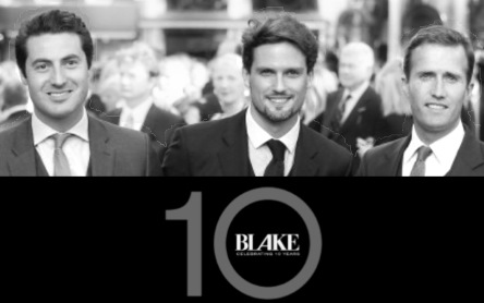BLAKE website front for 10 year album 2