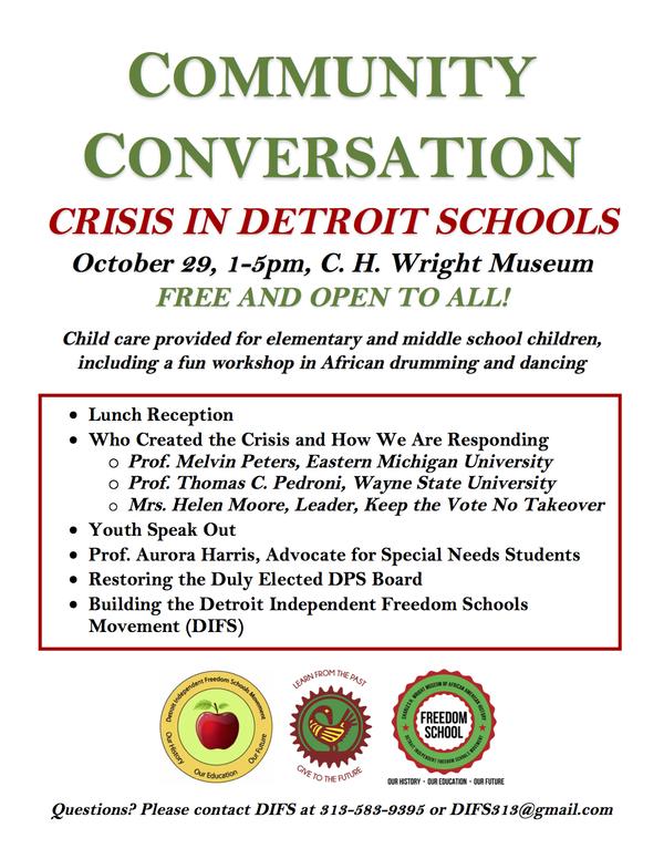 Community Conversation (Oct 29) Flyer