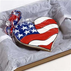 patriotic heart cookie