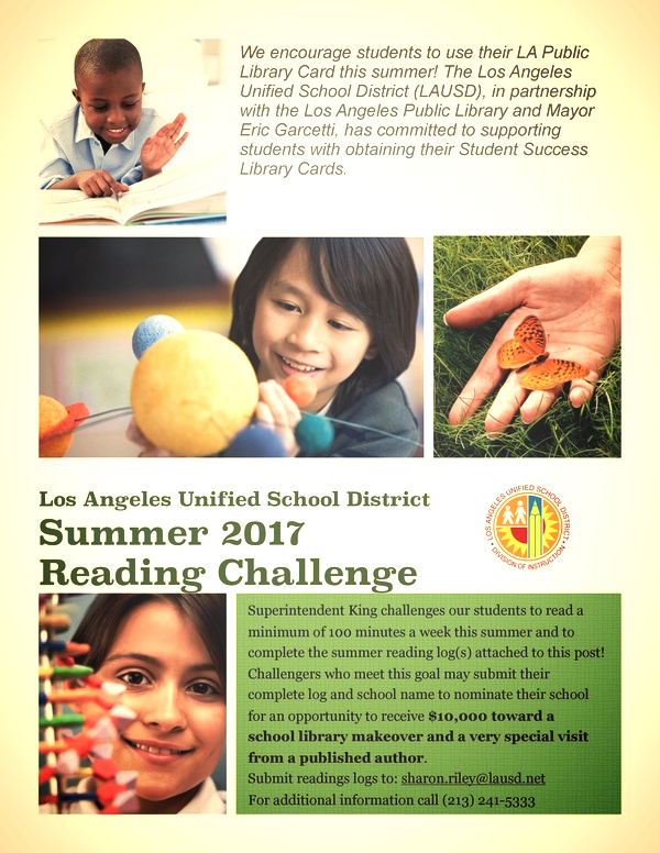 LAUSD Summer Reading Challenge