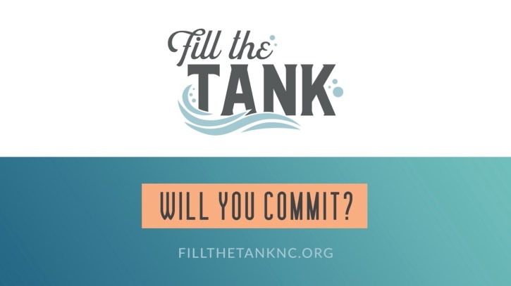 Fill the tank commitment flyer