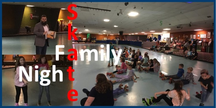 Family Skate Night collage