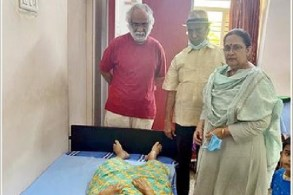Subhalekha Sudhakar mother dies of illness