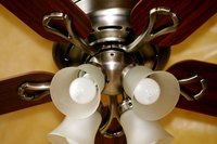 How to Install a Ceiling Fan With Light   eHow Replacing an existing light fixture with a ceiling fan with lights can make  home heating and