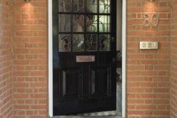 Painting an exterior door