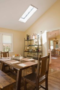 How to Light a Room With a Cathedral Ceiling   Home Guides   SF Gate Skylights create an attractive focal point