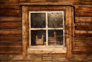 How To Frame The Exterior Of A Log Cabin Window EHow