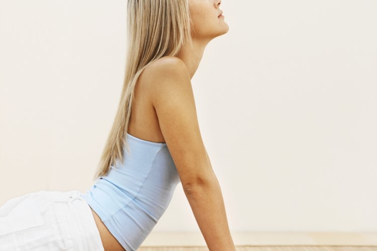 Yoga uses eccentric contractions, or contractions that lengthen the muscle.