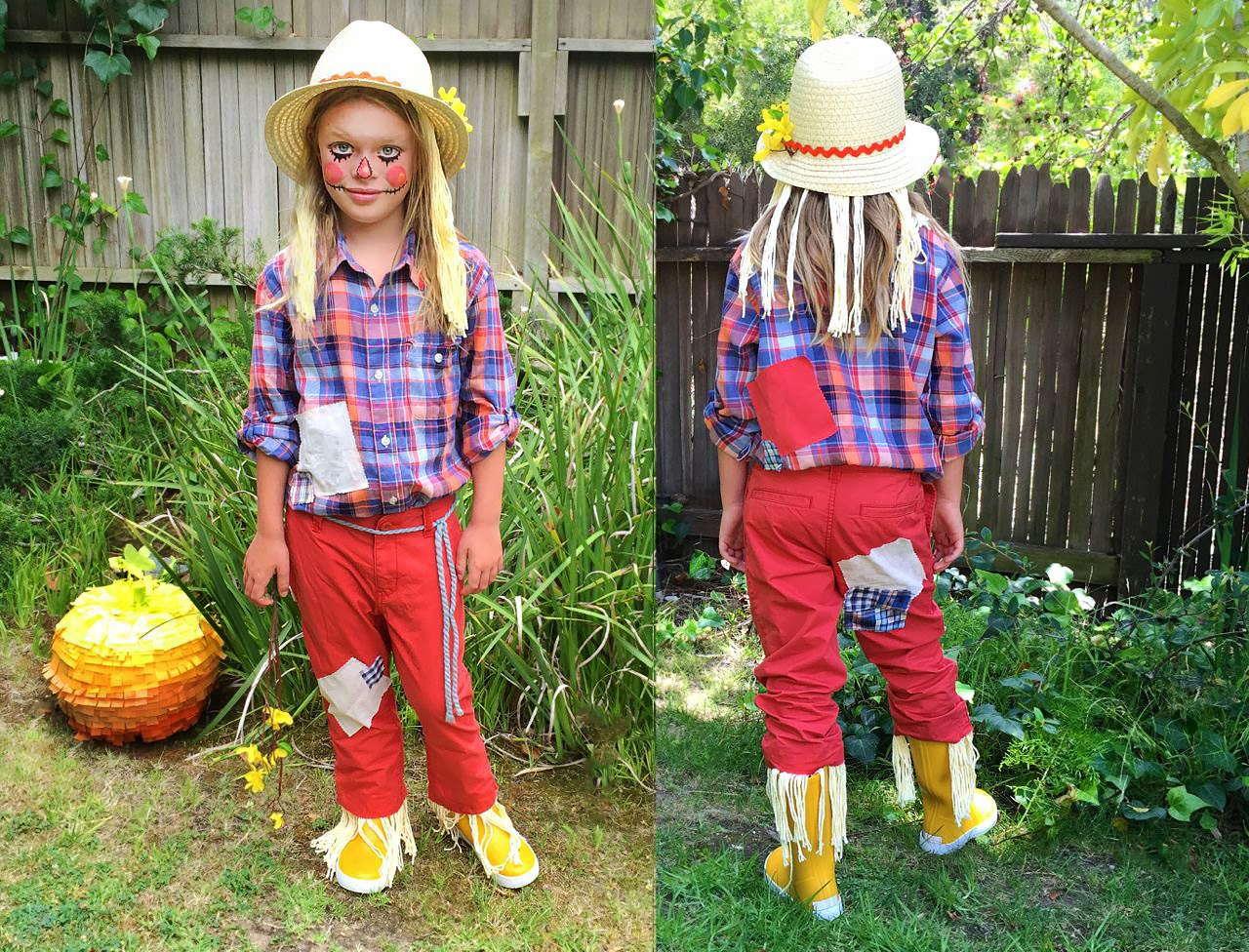 Easy Homemade Scarecrow Costume With Pictures