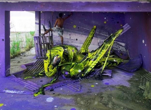 Junk Gets a Second Life as Gorgeous 3D Animal Street Art 1