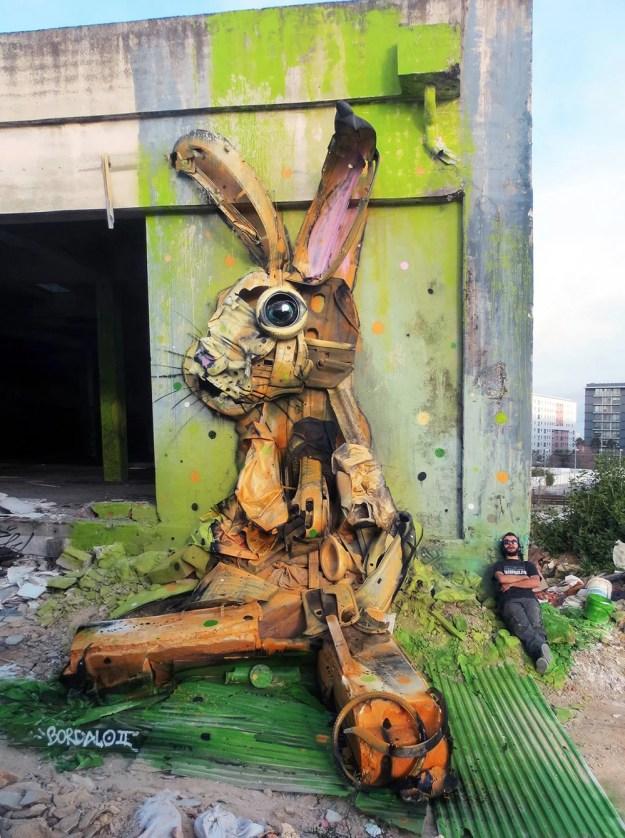 Junk Gets a Second Life as Gorgeous 3D Animal Street Art 7