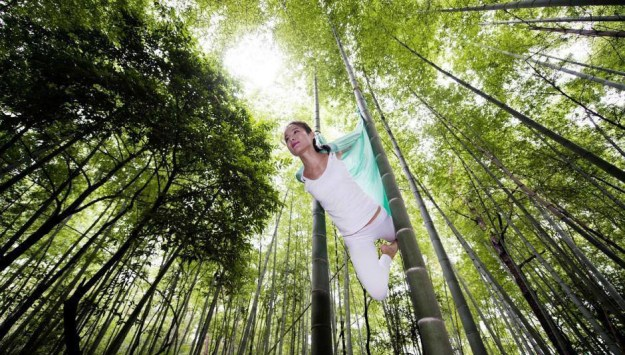 Anti-Gravity Yoga In Bamboo Forest (OMG) 1