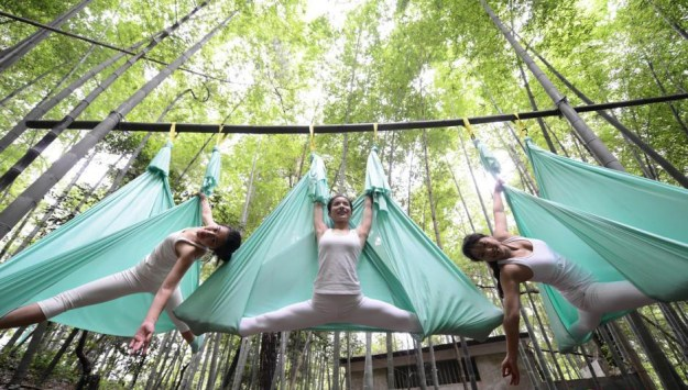 Anti-Gravity Yoga In Bamboo Forest (OMG) 4