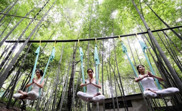 Anti-Gravity Yoga In Bamboo Forest (OMG) 7