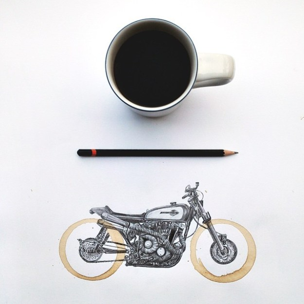 Amazing Coffee Stain Drawings by Carter Asmann 12