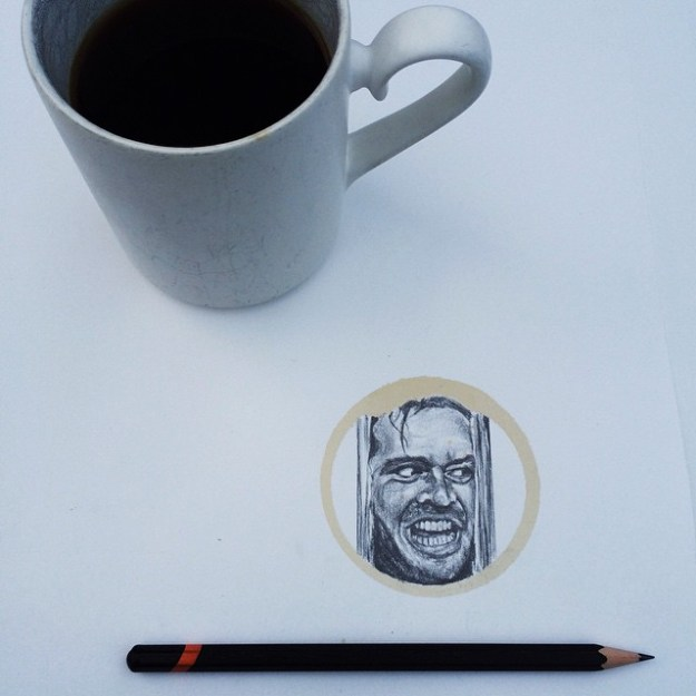 Amazing Coffee Stain Drawings by Carter Asmann 18