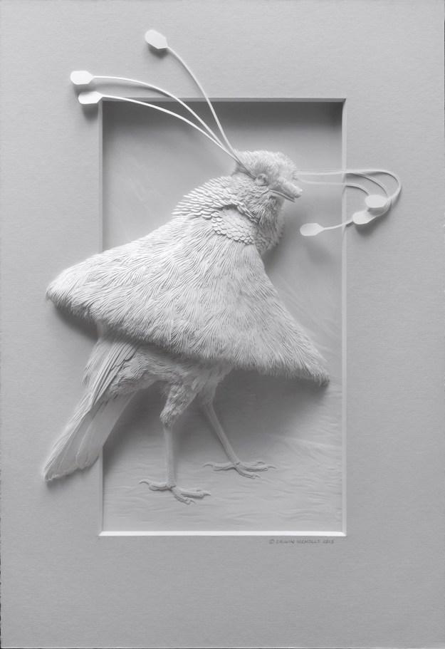 Super Realistic Paper Sculptures Of Animals By Calvin Nicholls 4