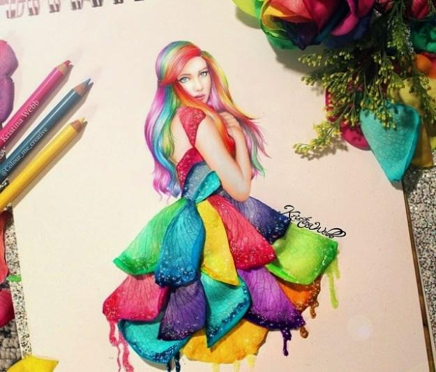 Absolutely Creative Dress Paintings Of Kristina Webb 7