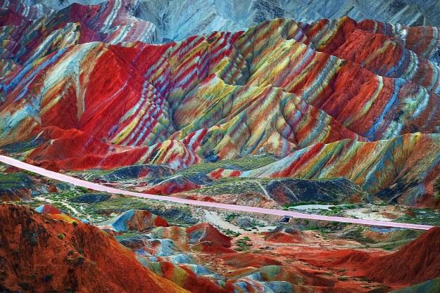 9-The rainbow mountains of Zhangye Danxia, China