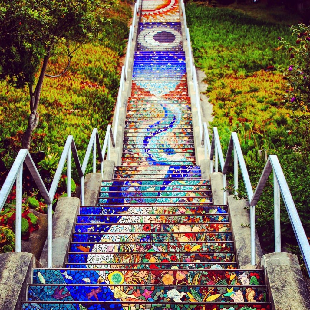 16th Avenue Tiled Steps, California | 15 Most Astonishing Staircases In the World | Brain Berries