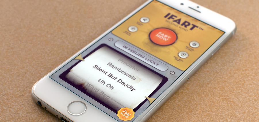 تطبيق iFart |  10 أفكار لمنتجات بسيطة جعلت من المبدعين مليونيرات |  التوت الدماغ