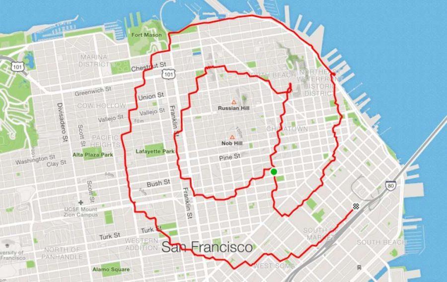 عداء علامة @ ليني موجان |  عداء سان فرانسيسكو يبتكر الفن فقط من خلال الركض في الأرجاء |  التوت الدماغ