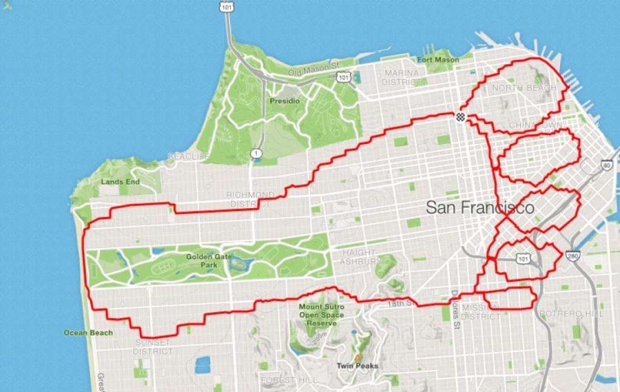 عداء Lenny Maughan San-Footcisco |  عداء سان فرانسيسكو يبتكر الفن فقط من خلال الركض في الأرجاء |  التوت الدماغ
